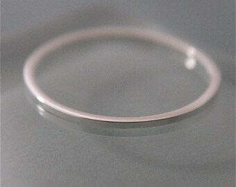 Square 1mm Sterling Silver Simple Stacking or Spacer Band Ring Recycled Eco-Friendly Sourced Shiny Finish