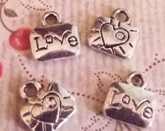 5 Pieces Love Charm, Romantic Charm for Jewelry Making, Jewelry Supplies, Jewelry Charms - C008