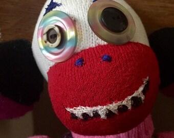 Scary Sock Clown Monkey