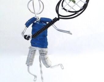Wire Sculpture Tennis Player