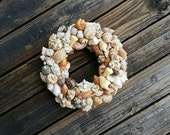 Reserved Listing, Two 16 Inch Diameter Shell Wreaths