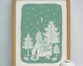 Home Together Camping Print | Camping Print | Camping Gift | Family Camping Gift | Couples Camping Gift