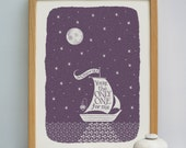 You're the Only One for Me Boat Print