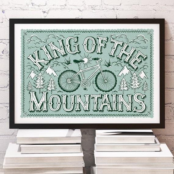 King of the Mountains Mountain Bike Print