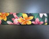 Seat Belt Cover, Hawaiian Floral Print, Plumeria / FREE SHIPPING