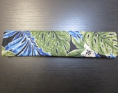 CLEARANCE Sale! 2 Seat Belt Covers;, Hawaiian Fern Print, Green and Blue, FREE SHIPPING