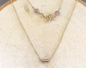 Gold Tube Necklace-Small