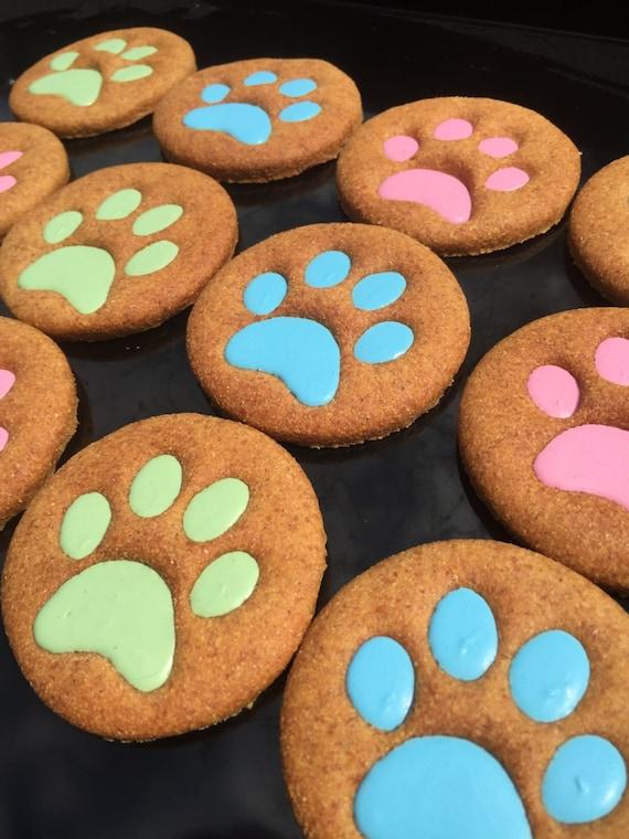 Gourmet Dog Treats Big Paws Decorated Dog by TwoTailsDogBakery