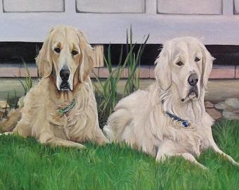 Original 24x36  Dog or Pet Portrait