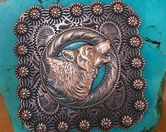 Howling Wolf Square Concho