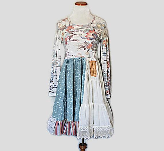 Upcycled Fashion / Boho Women's Junior's Dress