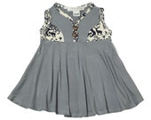 Finland summer dress - Powder grey - Bamboo