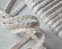 Elegant white and gold trim - THREE yards, skinny ivory and gold trim, bridal trim, wedding trim, 6mm wide cream and gold trim - 3 yards