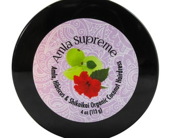 Amla Supreme Amla, Shikaikai & Hibiscus Organic Coconut oil Hairdress, Hair Growth, Amla oil