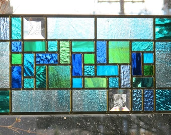 Ocean Blue and Green Stained Glass