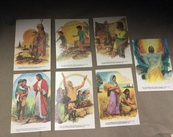 Vintage Sunday School Scripture Cards