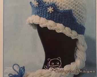 Frozen Princess or Anna hats for infant, toddler, children, teen-women sizes.