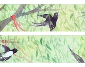 1 Roll Limited Edition Washi Tape:  Spring Swallows