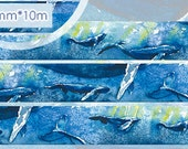 1 Roll Limited Edition Washi Tape: Deep Sea Whale