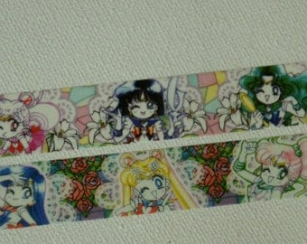 2 Rolls of Limited Edition Washi Masking Tape- Sailor Moon,Sailor Mars,Sailor Jupiter,Sailor Venus, and Sailor Chibi Moon