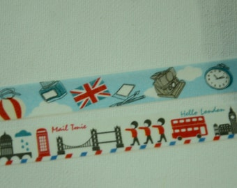 2 Rolls Japanese Washi Tape- All About London