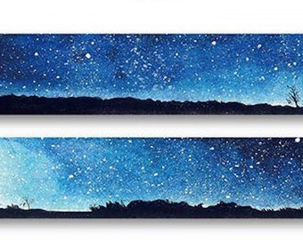 1 Roll of Limited Edition Washi Tape: Starry Starry Night