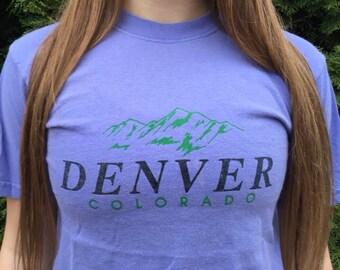 Vintage Denver Colorado T Shirt Size S Small