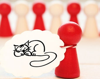 Rubber stamp - cat - approx. 20 mm ø