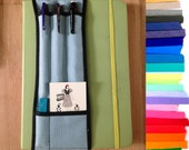 "Choose Colors-- 5-pocket Notebook Pencil Holder 8.5""-11"""