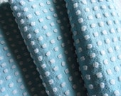 Morgan Jones Robin's Egg Blue With White Popcorn Chenille Bedspread Fabric Piece...18 x 24""