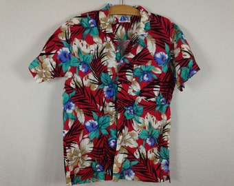 tropical button up size M