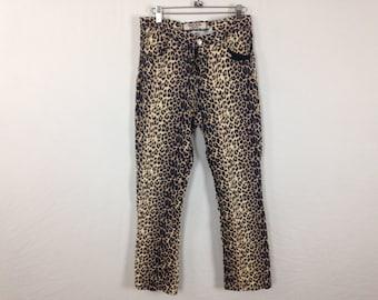 cheetah leopard pants size 11