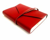 Red Leather Daily Planner 2016, Vintage style - Customizable