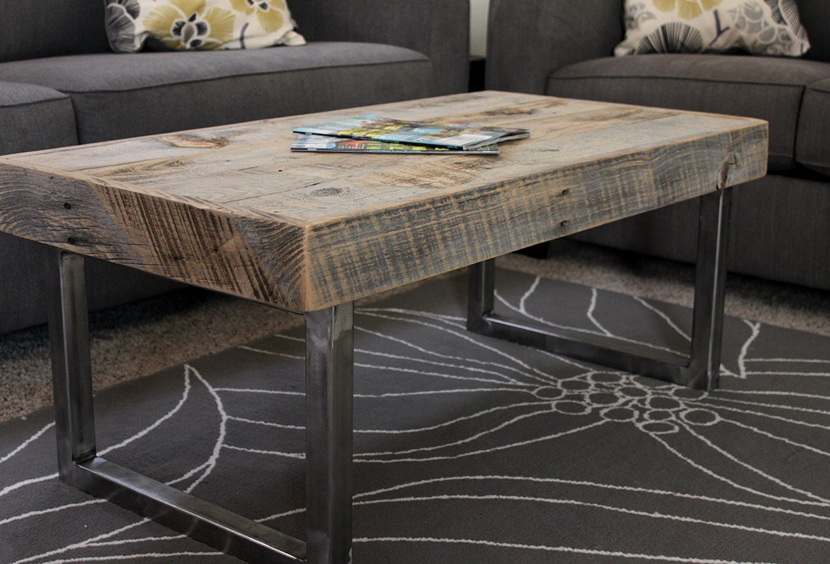 reclaimed wood coffee table. Black Bedroom Furniture Sets. Home Design Ideas