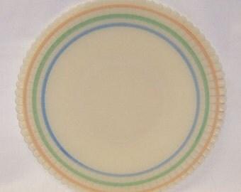 MacBeth Evans Cremax PETALWARE Pastel Banded 10 3/4 Inch SALVER PLATE