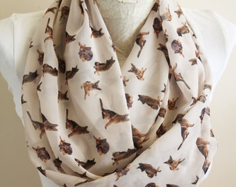 German Shepherd Scarf, German Shepherd Infinity Scarf, Dog  Scarf, Circle Scarf, Animal Scarf,Women Accessories, Gift İdeas for Her