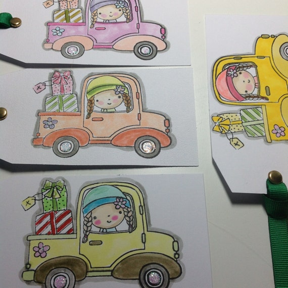 4 CHRISTMAS Gift Tags, Tree ORNAMENT, Free Shipping