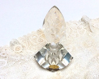 Vintage Cut Glass Perfume Bottle, Hand Cut, Superior Quality, Beautiful Gift, Excellent Condition