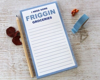 I Need Some Friggin Groceries Magnetic Grocery Shopping List, Funny Rude Gag Gift Ideas for Him Her Christmas Stocking Humorous Sarcastic