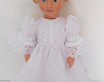 First Communion Easter White dress for American Girl doll and other 18 Inch dolls