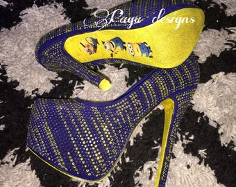 Minions shoes high heel, party,