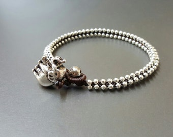 Round  Silver  Anklet