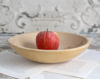 Vintage Wooden Dough Bowl, Country Farmhouse Kitchen, Rustic Wooden Bowl, Fixer Upper Decor, Primitive Bowl