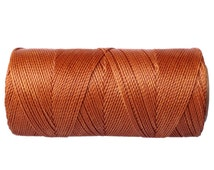 Waxed Polyester Cord, Knotting Cord, Bracelet Cord - Copper