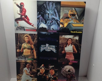 Vintage uncut promo tradings cards mighty morphin power rangers 1995