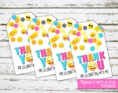 INSTANT DOWNLOAD - Emoji Thank you Tags