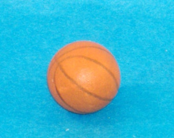 Miniature Scale Basketball, Sports, Hoops, NBA - Great Accessory for Your Dollhouse, Shadow Box, Diorama