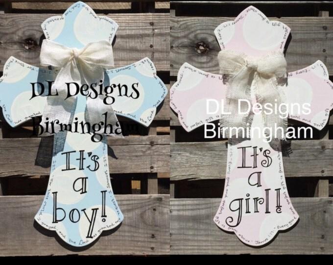 It's a boy or it's a girl hospital door hanger