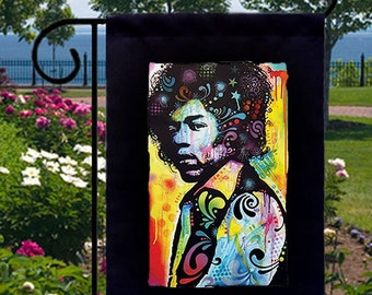 Neon Jimi New Small Garden Yard Flag Decor Gifts Iconic Music Legend