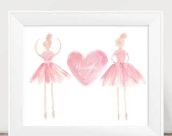 Girls Bedroom Print, Blush Ballet Print, Ballet Recital Gift, Ballerina  Print, Ballerina